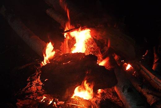 Пламя костра