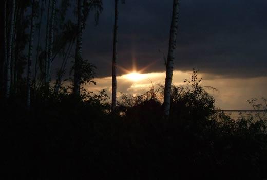Закат на Рыбинском водохранилище