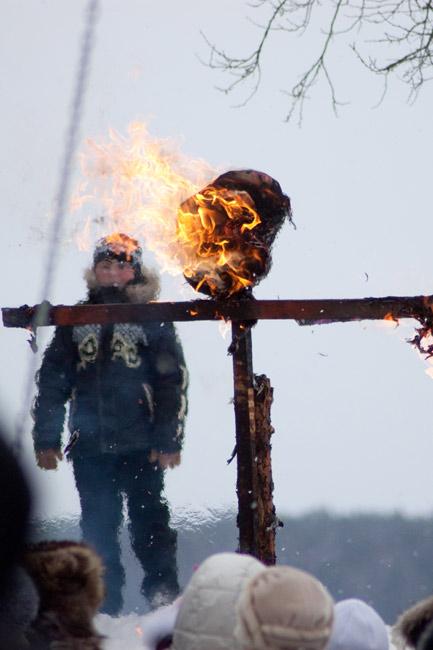 Сожгли Масленицу