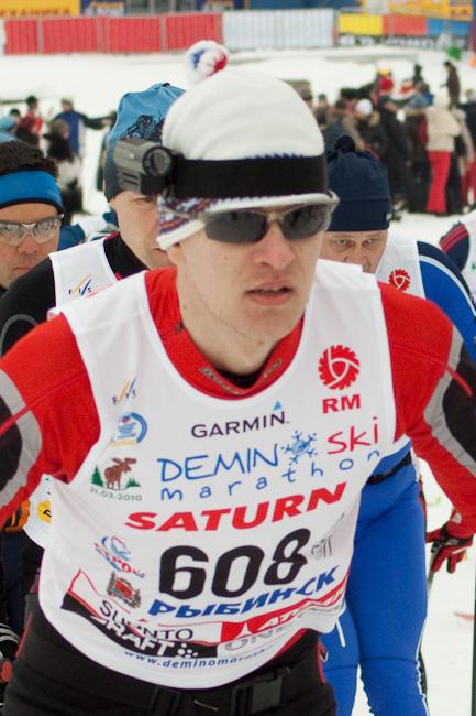 Лыжник с камерой