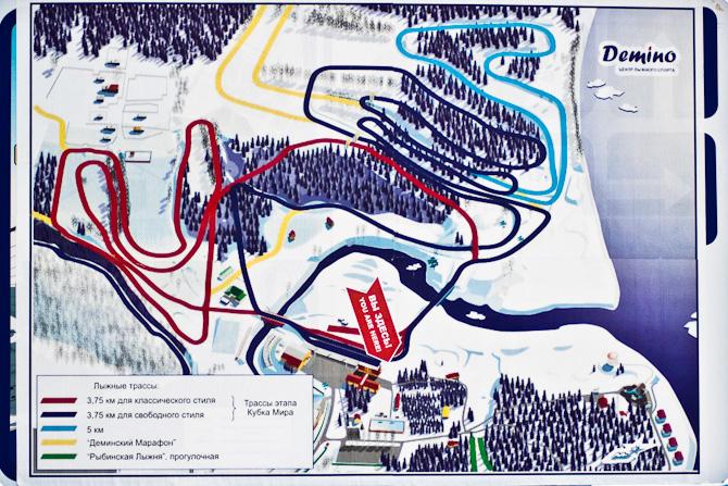 Карта деминского марафона