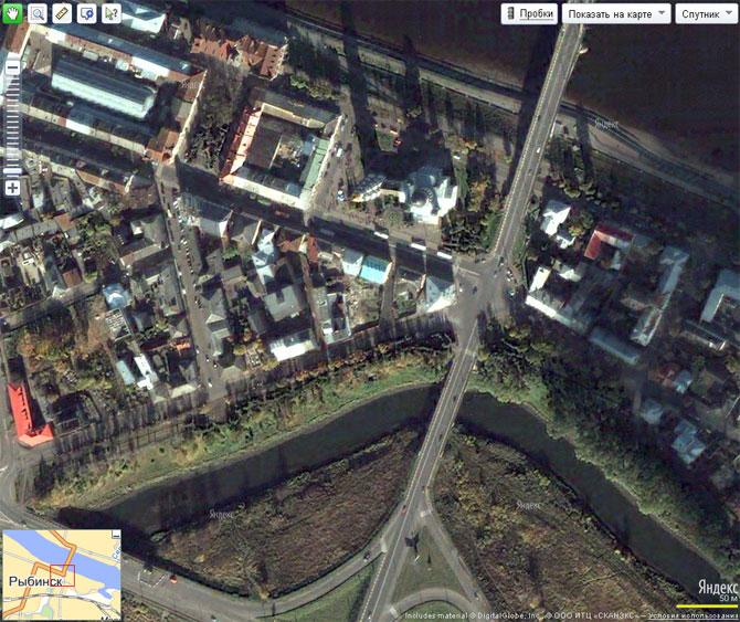 Я.карта - Рыбинск - снимки со спутника