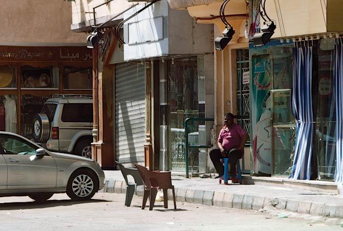 Египтянин ждет покупателей